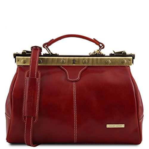Rosso medico Leather pelle Tuscany TL10038 Borsa 1 Michelangelo in Marrone zBTUwOqZ