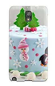 Premium Durable Chirstmas Cakes Fashion Tpu Galaxy Note 3 Protective Case Cover