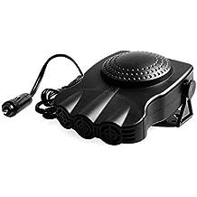 Car Heater, Car Defroster ,Car Demister, Lolicute Portable Car Vehicle Portable Fast Heating Quickly Defrosts Defogger 12V 150W Auto Ceramic Heater Cooling Fan 3-Outlet Plug In Cig Lighter (Black)