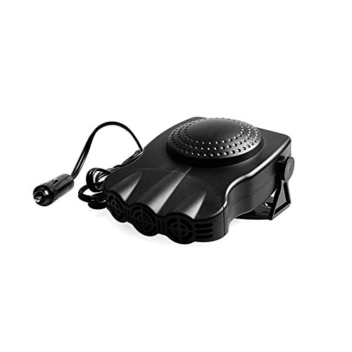 Car Heater, Car Defroster ,Car Demister, Lolicute Portable Car Vehicle Portable Fast Heating Quickly Defrosts Defogger 12V 150W Auto Ceramic Heater Cooling Fan 3-Outlet Plug In Cig Lighter (Black)