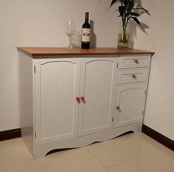 Homecharm-Intl 43.3x15.8x30.7-Inch Storage Cabinet -White(HC-001)
