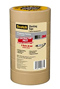 Scotch 2020-36A-CP Masking Tape, 1.41-Inch by 60.1-Yard, 6-Pack