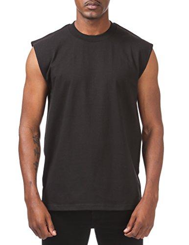- Pro Club Men's Heavyweight Sleeveless Muscle T-Shirt, Black, Small