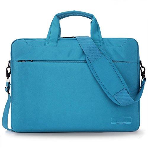 BRINCH 15,6 Zoll Oxford Gewebe Laptoptasche Messenger Bag Umhängetasche Schulterhülle Aktentasche Henkeltasche für 15 - 15,6 Zoll Laptop/ Notebook/ MacBook/ Chromebook Computer mit Schulterriemen und  Blau