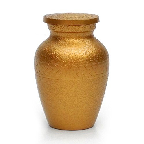 Etch Urn (Antique Gold Etch Mini Keepsake Urn for Small Ashes)