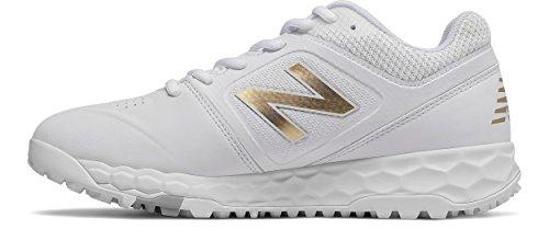 New Balance Women's Velo V1 Turf Softball Shoe, White, 10.5 B US