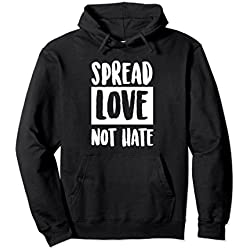 Unisex Spread Love Not Hate Anti-BullyHoodie Medium Black