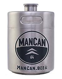 ManCan 64 Oz Portable Keg-style Beer Growler