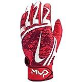 Nike Women's Hyperdiamond Edge Batting Gloves 2019 (Red/White, Large)
