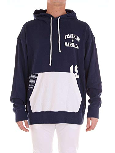 Flmf153ans19blue Bleu Franklinamp; Marshall Coton Sweatshirt Homme uOPXZiTk