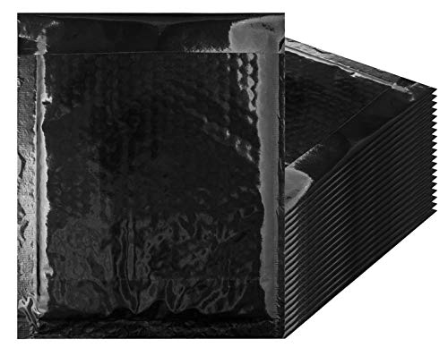 Bubble mailers 8.5 x 11 Padded envelopes 8 1/2 x 11 by Amiff. Pack of 20 Black Cushion envelopes. Exterior Size 9 x 11.5 (9 x 11 1/2). Peel & -
