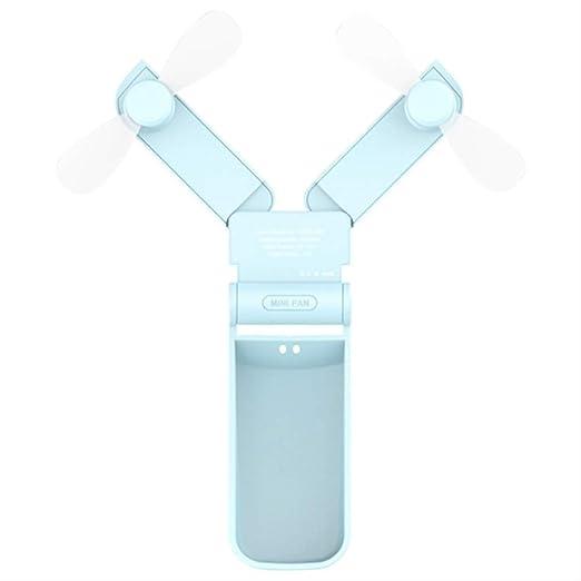 JKWJE Ventilador de Bolsillo Mini Ventilador Plegable Portátil USB ...