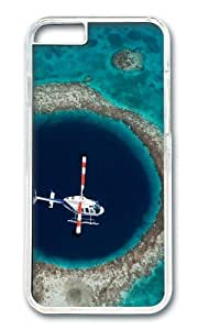 iPhone 6 Case,VUTTOO Stylish Helicopter Flying Over The Great Blue Hole Hard Case For Apple iPhone 6 (4.7 Inch) - PC Transparent
