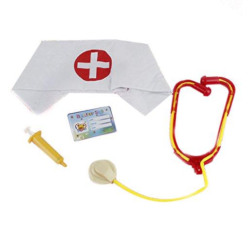 Meidus Halloween Nurse Cap With Plastic Caps Stage Scene Props Set (Nurse Party Decorations)
