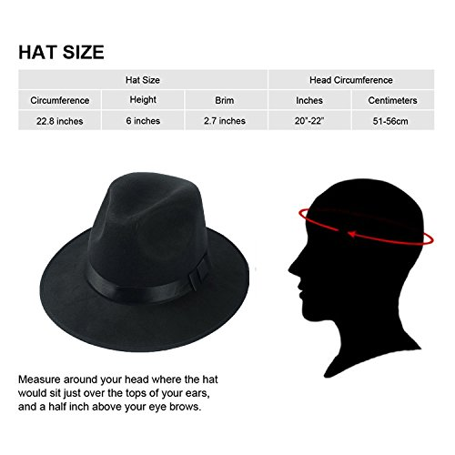 TDmall Clothing Series 1920s Mens Accessory Set Hard Felt Wide Brim Panama Hat,Y-Back Elastic Suspenders,Pre Tied Bow Tie,Skinny Tie (Black)