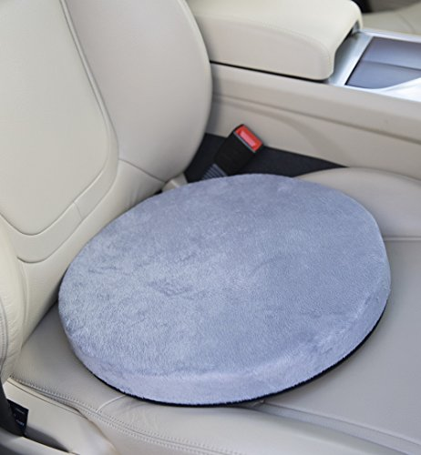 Posture Cushion 360 Rotating Memory Foam Swivel Cushion - Ideal for Car (Not With High Sided Seats)/Home/Office: