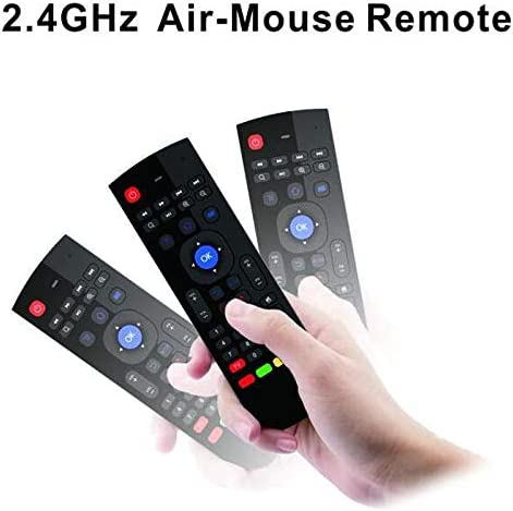 Color: with backlit No Mic Calvas 10pcs Wireless Mini Keyboard T3 2.4GHz Fly Air Mouse with Mic Universal Remote Control for Android TV Box PC Support IR learning