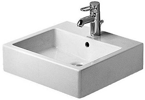 Duravit Vero Console - Duravit 04545000271 Washbasin 50 cm Vero white with of, with tp, 1 th, ground, WG, Large,