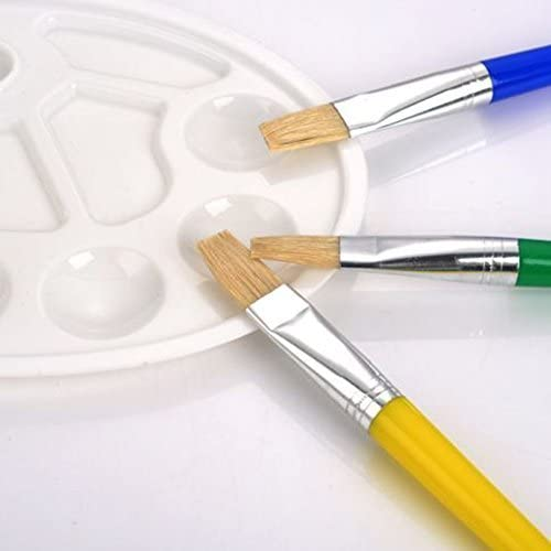 18/piezas esponja de pintura para ni/ños pinceles de esponja juego con Palette y delantal infantil Aprendizaje precoce Instrumentos de Pintura Arte Mestiere Fai Da Te