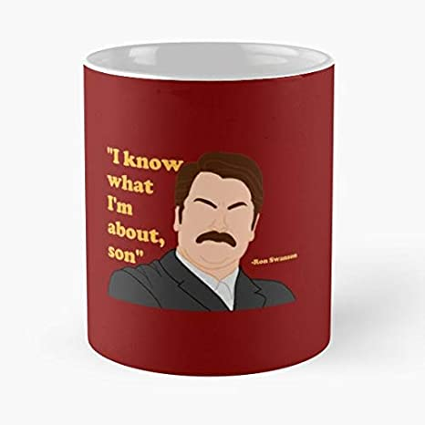 92Wear Ron Swanson Parks and Rec Recreation Mustache Quote ...