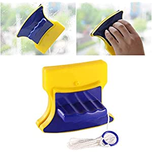 Purabelle Plastic Magnetic Easy Clean Double Faced Glass Wiper Strong Magnetic Window Cleaner Tool Glass Wizard Brush…