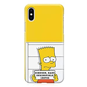 Loud Universe Bart Simpson Arrest iPhone XS Max Case The simpsons iPhone XS Max Cover with 3d Wrap around Edges