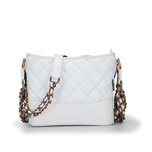 Double Seau Trumpet Lingge White Bag Pure Lady Chaîne Sac Oblique Xddb Messenger Xq5H6UPwHn