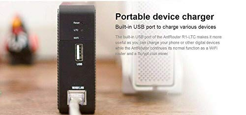(AntRouter R1-LTC ~1.29MH/s ASIC Litecoin Miner with Built-in WiFi Router (AntRouter R1-LTC @ 1.29MH/s))