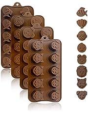 KITCHENATICS Silicone Chocolate Molds
