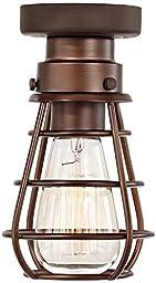 Bendlin Industrial 1-Light Bronze Ceiling Fan Light Kit