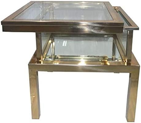 Casa Padrino Mesa Auxiliar Acero Inoxidable Oro 55 x 55 x H. 55 cm ...