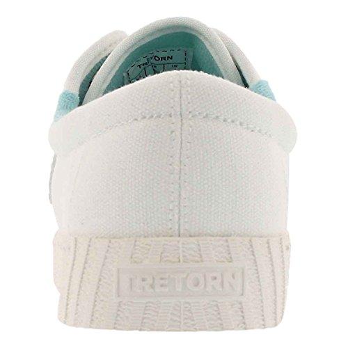 Tretorn Nylite Plus Fashion Sneaker Wht / Blue Para Mujer