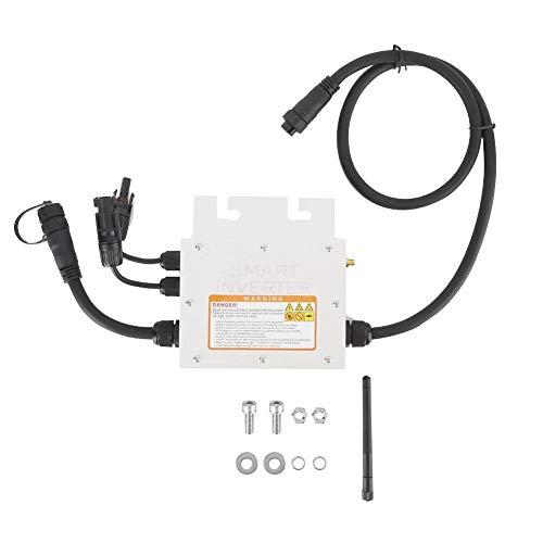 Grid Tie Micro Solar Wechselrichter, 200W MPPT Solar Micro Wechselrichter Grid Tie Wechselrichter 18-50VDC bis 120/230VAC IP65 wasserdicht(120V)