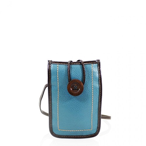 Body LeahWard LeahWard Bag Phone Bags Sex Case Small Women's Across 828 Button Button Phone Light Brown Uni Men's Bag Phone Bag Blue rXAAqwd