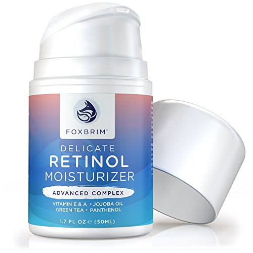 Foxbrim Retinol Cream - Advanced Complex Face Moisturizer - Anti-Aging Cream With Natural & Organic Ingredients - 1.7OZ