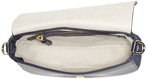 Tommy Hilfiger Effortless Leather Crossover - Bolsos bandolera Mujer Azul (Tommy Navy)