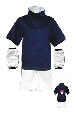 LYLAS Cosplay Costume Naruto Uchiha Sasuke Uniform Set for Adult and Child (Sasuke Costumes)
