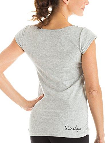 Winshape WTR4 Tee-shirt à manches courtes pour femme Pour loisirs, sport, yoga M Gris - Gris mélangé