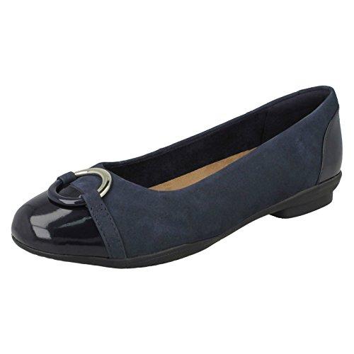 Clarks Ladies Neenah Vite Chiuso Ballerine Blu (blu)