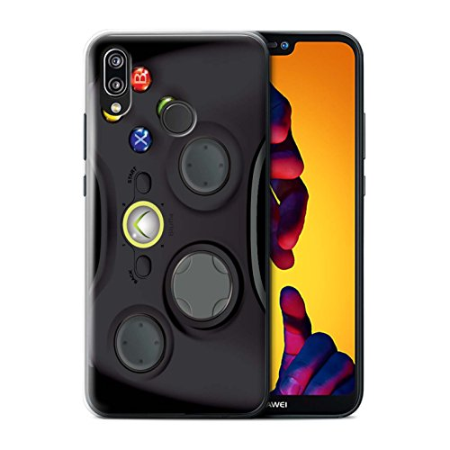 (STUFF4 Phone Case/Cover for Huawei P20 Lite/Black Xbox 360 Design/Games Console Collection)