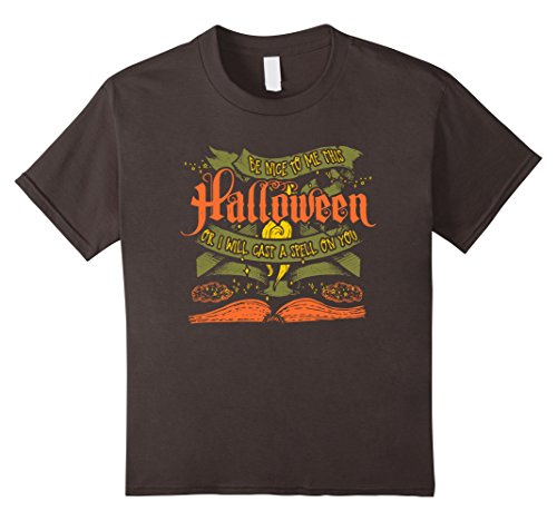 Kids Be Nice To Me Or I Will Cast A Spell On You Halloween Shirt 4 (The Cast Of Halloween 4)