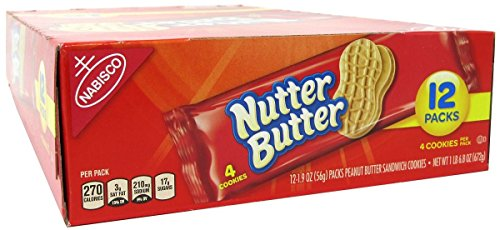 Nutter Butter Peanut Butter Sandwich Cookies - Snack Pack, 12 Count