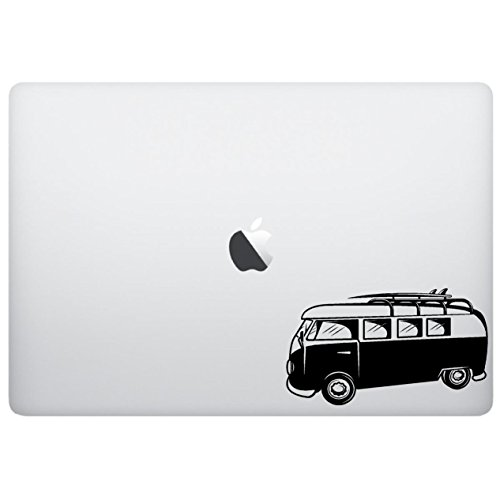 Laptop Macbook decal - Vintage van vw - matte black skins st