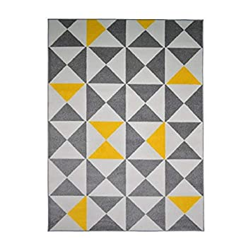 Tapis de salon jaune et anthracite.: Amazon.de: Baumarkt