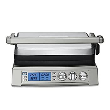 Image of Cuisinart GR-300WSP1 Griddler, Elite, Silver Home and Kitchen