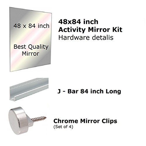 Fab Glass and Mirror GM48x84 Activity Mirror Kit for Gym & Dance with Safety Backing, 48'' x 84'' by Fab Glass and Mirror