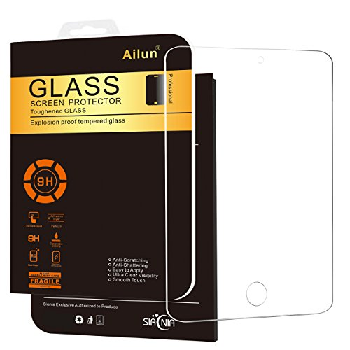 iPad Mini 4 Screen Protector,by Ailun,Tempered Glass,2.5D Edge,Ultra Clear Transparency,Anti-Scratches,Case Friendly
