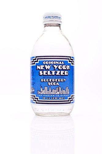 Blueberry Soda - ONYS Original New York Seltzer, Blueberry, 10 ounce (Pack of 12)