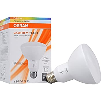 SYLVANIA SMART+ BR30 Full Color + Tunable White LED Bulb, 65W Equivalent, Works with Amazon Alexa, 73739 (Formerly LIGHTIFY)