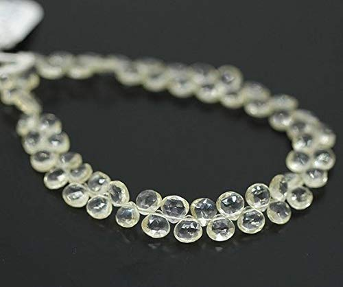 """Rare Yellow Scapolite Faceted Heart Drop Gemstone Loose Beads Strand 4"""" 4mm 6mm by Gemswholesale"""